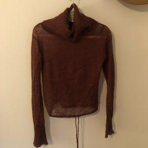 Free People sheer knit turtleneck